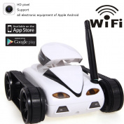 A-Parts New Mini RC I - Spy Tank Car Video Camera 777-270 WiFi Remote Control By Iphone Android White 2MP Free EMS Photo RC Car white