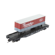 Bachmann Industries 16m Flat Car with 11m Piggyback Trailer - New York Central - Pacemaker