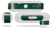 Anchors Away Hunter Green Decal Style Skin - fits Beats Pill Plus
