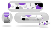 Lots of Dots Purple on White Decal Style Skin - fits Beats Pill Plus