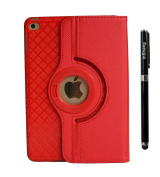 inShang iPad mini 4 Case for ipad mini 4th(Sep 2015 Release), Premium PU Leather Multi-Function Stand Cover 360 degree Rotation, With Auto Sleep Wake Function+1pc High end class business stylus Pen
