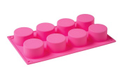 Generic 8 Cavity Little Cylinder Silicone Mould for Soap Cake Tart Pudding Cookie Making Food Grade