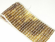 10 Yard 11 Lines Gold Glitter Craft Hand Trim Ribbon Sequin Trim Beaded Lace Trim Sewing Trim T94