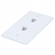 Wall Plate Jacks 8P8C Double - Smooth Type