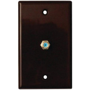 DATACOMM ELECTRONICS 32-2024-BR 2.4 GHz Coaxial Wall Plate (Brown) DCM322024BR