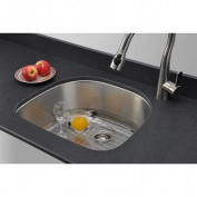 WELLS SINKWARE Craftsmen Series 60cm x 50cm D-shaped Kitchen Sink
