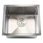 eModern Decor Ariel 43cm x 38cm Single Bowl Undermount Kitchen Sink