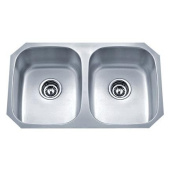 WELLS SINKWARE Speciality Series 70cm x 46cm Equal Double Kitchen Sink