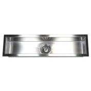 eModern Decor 80cm x 22cm Single Narrow Bowl Undermount Kitchen Sink