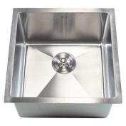 eModern Decor Ariel 46cm x 46cm Single Bowl Undermount Kitchen Sink