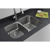 WELLS SINKWARE Craftsmen Series 80cm x 50cm 40/60 Double Bowl Kitchen Sink