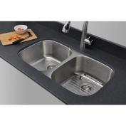 WELLS SINKWARE Craftsmen Series 80cm x 46cm Equal Double Bowl Kitchen Sink