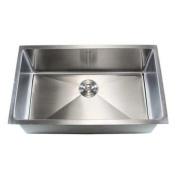 eModern Decor Ariel 80cm x 46cm Single Bowl Undermount Kitchen Sink