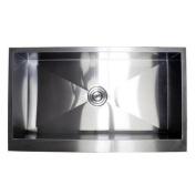 eModern Decor Ariel 90cm x 50cm Stainless Steel Single Bowl Farmhouse Kitchen Sink