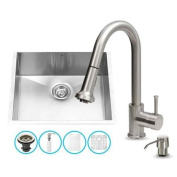 Vigo All-in-1 60cm Undermount Stainless Steel Kitchen Sink and Faucet Set