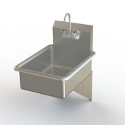 Aero Manufacturing NSF 48cm x 60cm Single Wall Mounted Bathroom Hand Sink with Faucet