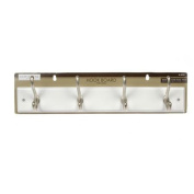 46cm White Hook Board with Satin Nickel Hooks