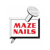 MAZE NAILS Pole Barn Nails, Ring Shank, Hardened Steel, 40D, 13cm ., 2.3kg.