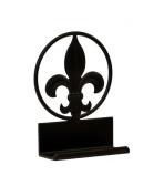 FLEUR DE LIS IRON BUSINESS CARD HOLDER-14cm TALL