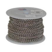 JANDORF SPECIALTY HARDWARE 30m #6 Nickel-Plated Steel Beaded Chain