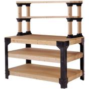 2x4 Basics Workbench and Shelving Storage System, Black
