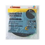 THERMWELL Black Rubber Foam Weatherseal Tape, 1.3cm x 0.8cm . x 3m