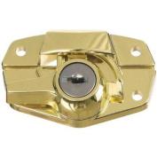 National Mfg. N183723 Keyed Window Sash Lock-BRS KEYED SASH LOCK
