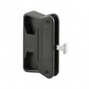 PRIME LINE PRODUCTS Sliding Screen Door Latch & Pull, Black