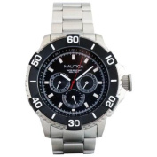 Nautica Classic Stainless Steel Analogue NST 501 Men's Watch w/ Black Dial N19587G