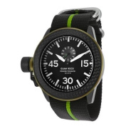 Glam Rock Men's Racetrack Black and Green Nylon Black Dial