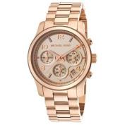 Michael Kors Women's Runway Rose Gold Plated Stainless Steel Bracelet Watch 38mm MK5128