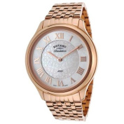 Rotary Women's Revelation Rose-Tone Stainless Steel Dark Brown Dial w/Two Faces