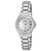 Citizen Women's Silhouette Diamond Stainless Steel Mother of Pearl Dial