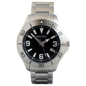 Nautica Water Resistant Classic Analogue Watch Silver Tone w/ Black Dial - N11575G