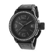 TW Steel Unisex Canteen Black Genuine Leather Black Dial
