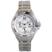 Nautica Classic Mid Stainless Steel Analogue Watch w/ Enamel Bezel White - N21561M