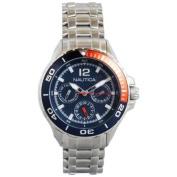 Nautica Classic Mid Stainless Steel Analogue Watch w/ Enamel Bezel Blue - N21559M