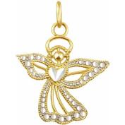 10kt Gold Angel Charm Pendant
