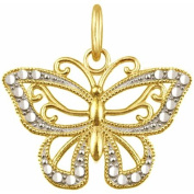 10kt Gold Butterfly Charm Pendant