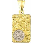 10kt Gold Nugget Charm Pendant