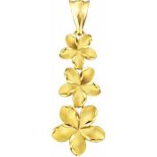 10kt Gold Plumeria Charm Pendant