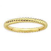 Sterling Silver Stackable Expressions Gold-plated Twisted Ring