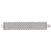 X & O Handset Austrian Crystal Rhodium-Plated 31.5mm Box Pattern Bracelet