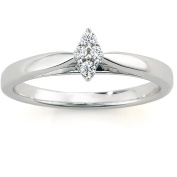 Always & Forever Platinaire Diamond Accent Cluster Marquise-Shaped Engagement Ring
