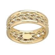 Simply Gold 10kt Yellow Gold Rope Centre Size 7 Ring