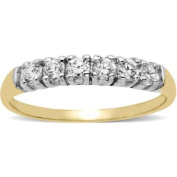Brilliance CZ 10kt Yellow Gold Band, Size 7