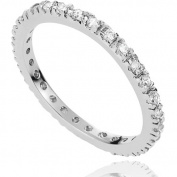 Alexandria Collection CZ April Birthstone Sterling Silver Eternity Band