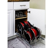 Hardware Resources Pots and Pan Orgainzer for 38cm Base Cabinet MPPO15-R by Cabinet Organisers