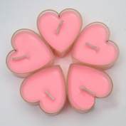 Spritech(TM) 10Pcs Romantic Love Heart Shaped Floating Candle for for Daily household Wedding Birthday Party Candlelight Dinner Coffee Shop Hotel KTV Pink