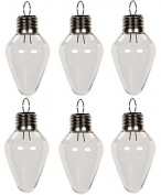 Creative Hobbies® Clear Plastic Bulb Shape Ornaments 100mm (4 Inch) Pack of 12